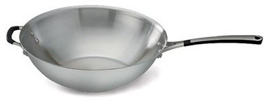 Calphalon Simply Stainless Steel 12 in. Stir Fry Pan modern-fry-pans-and-skillets