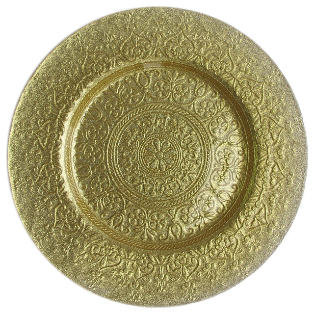 Alinea Charger Plate, Gold mediterranean-charger-plates
