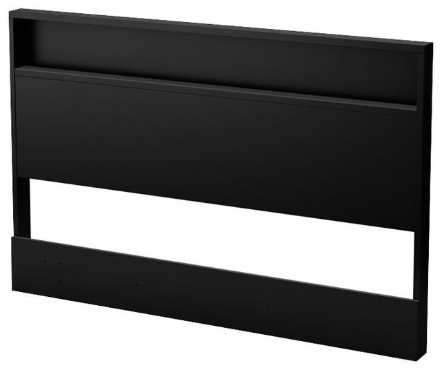 ... Full/Queen Headboard in Pure Black - Modern - Headboards - by Cymax