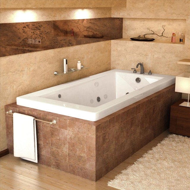 Atlantis whirlpools 4260vnwr jet bathtub traditional for Jet tub bathroom designs