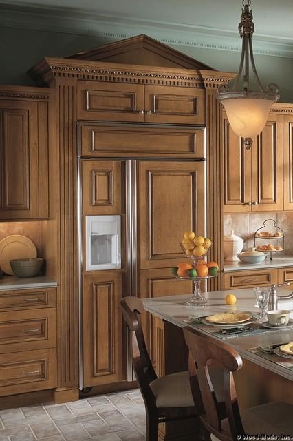 DECORATIVE REFRIGERATORS traditional-kitchen-cabinets