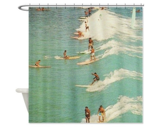 Awesome Surfing Shower Curtain -