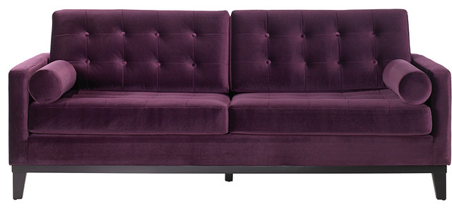 Armen Living Centennial Sofa Purple Contemporary Sofas By Purehome