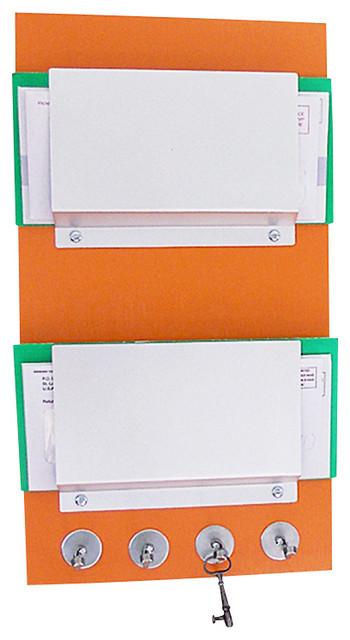 ... Key Rack Organizer, Citrus Orange - Modern - Storage And Organization