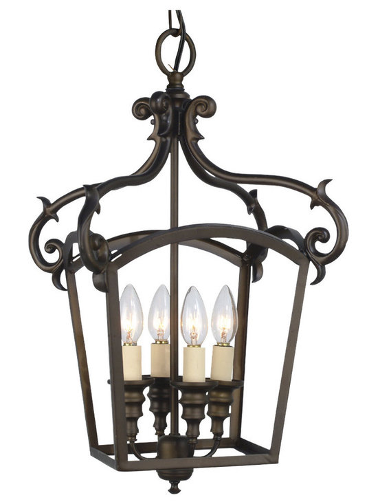 Royce Lighting - Royce Lighting Stalton 4-Light Chandelier Oil Rubbed Bronze - Finish:Oil Rubbed Bronze, Light Bulb:(4)60w B10 Cand C Incand The Williamsburg style has long been a favorite that never seems to go out of style. Our Stalton series has fully detailed cast arms with turned central columns, and comes in a classic finish.