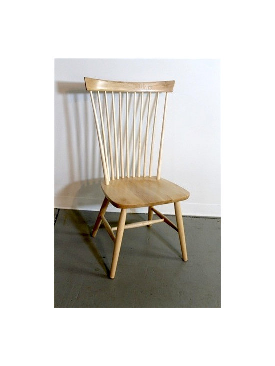 Natural Wood Federal Style Dining Chair - Made by http://www.ecustomfinishes.com