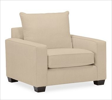 PB Comfort Square Upholstered Grand Armchair Knife-Edge, Knife-Edge, Polyester W traditional-armchairs-and-accent-chairs