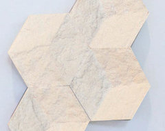 Chiseled Cream Hive Tile modern-accessories-and-decor