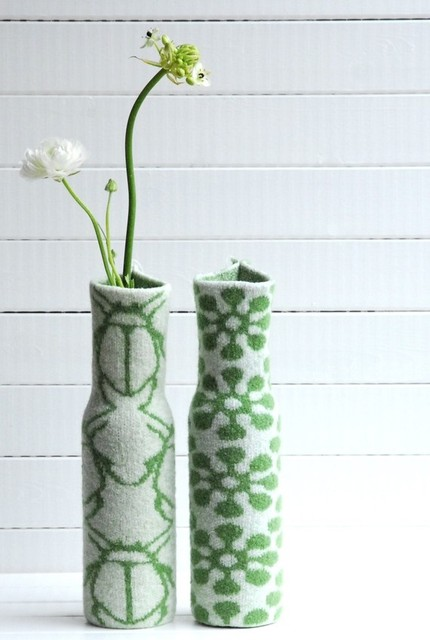 Knitted Vase Cover BLOOM by Hogenbirk Knitwear modern vases