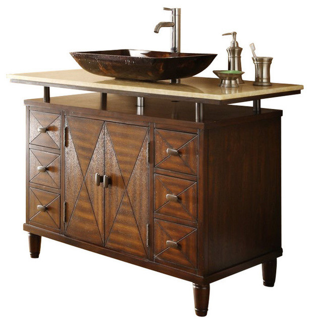 Amazing Cromlee Bark 24in Vessel Single Sink Poplar Bathroom Vanity