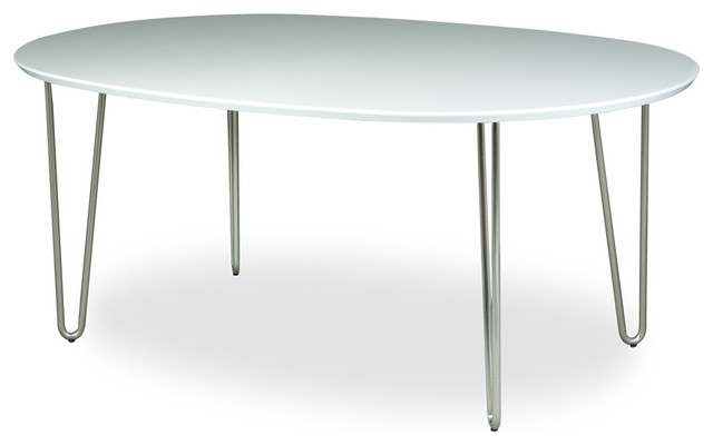 Vio white dining room table oval modern dining tables for White oval dining room table