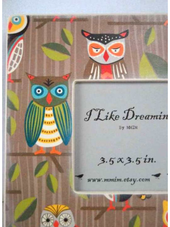 Owl Frame - Table top frame with single peg stand - can be wall mounted with proper hardware.