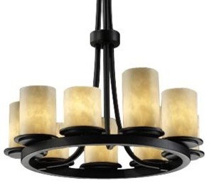 Clouds Dakota 9-Light Ring Chandelier by Justice Design