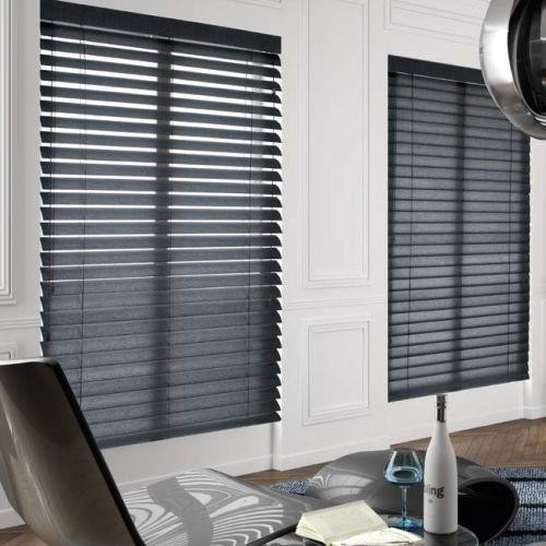 american blinds signature wood blinds in black