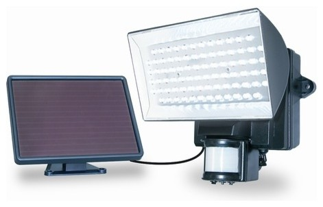 Marvelous Solar Powered 80 LED Motion Activated Outdoor Security Floodlight .