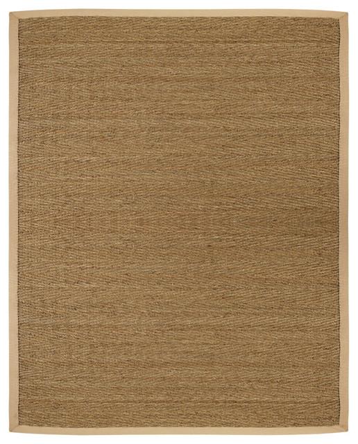 Anji Mountain Seagrass Saddleback Seagrass Rug contemporary-rugs