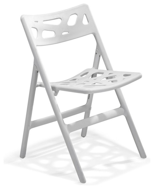 Zuo Sweets Folding Dining Chair in White [Set of 4] Modern Dining Chairs