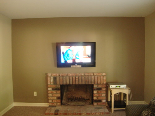 built ins around fireplace and wall mounted tv. Black Bedroom Furniture Sets. Home Design Ideas