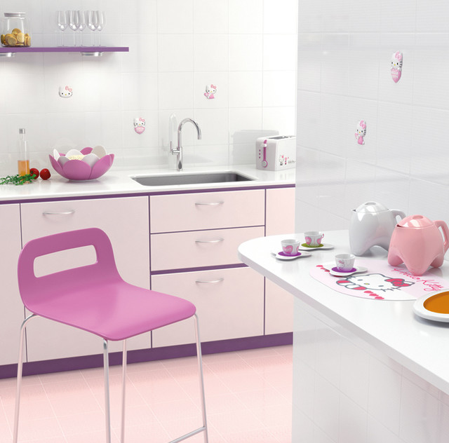 hello kitty easy tile collection asian tile las vegas by cheaperfloors. Black Bedroom Furniture Sets. Home Design Ideas