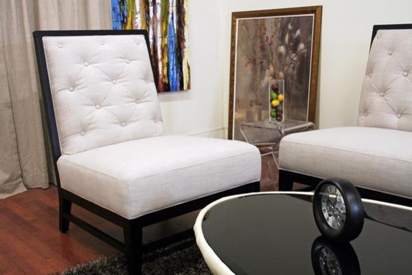 Baxton Studio 2363-C279 Bristol Tufted Gray Linen Modern Sofa Set contemporary-living-room-chairs