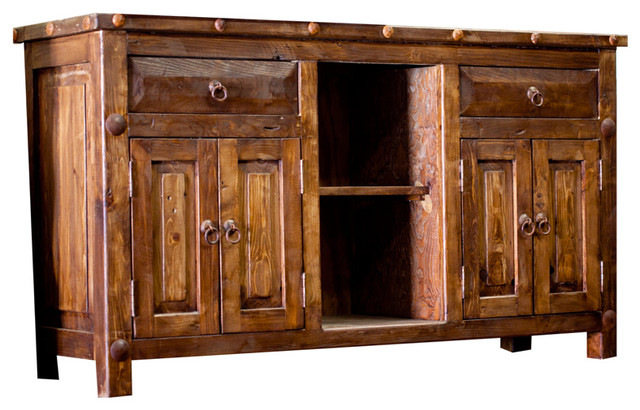 Reclaimed Double Sink Vanity Rustic Bathroom Vanities