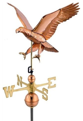 Good Directions Attack Eagle Weathervane - Polished - contemporary ...