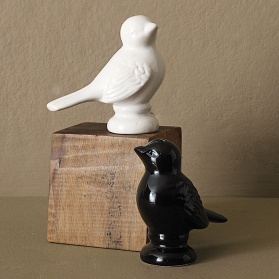 Sparrow Salt And Pepper Shakers modern-salt-and-pepper-shakers-and-mills