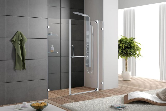 Vg6042chcl36 36 Inch Frameless Shower Door Modern Shower Doors By Vigo