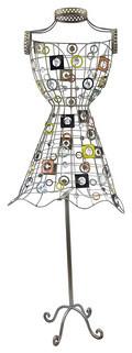 Decorative Retro Wire Art Vintage Dress Form 60 Inch contemporary-home-decor