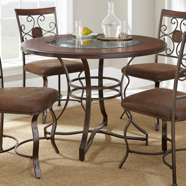 Torino 45 Inch Round Dining Table Contemporary Dining Tables By