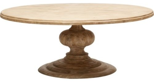 Magnolia round dining table 76 eclectic dining tables for Small round wood dining table