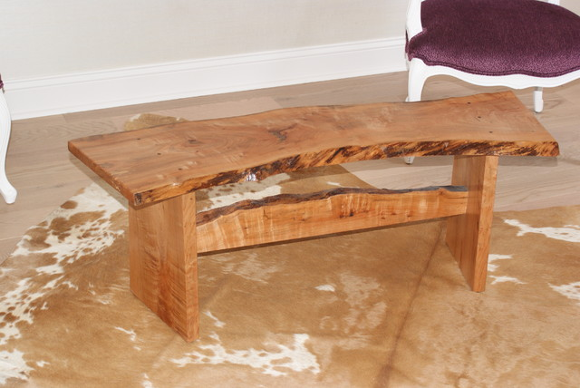 Slab bench - Modern - Indoor Benches - jacksonville - by Paravan Wood Design