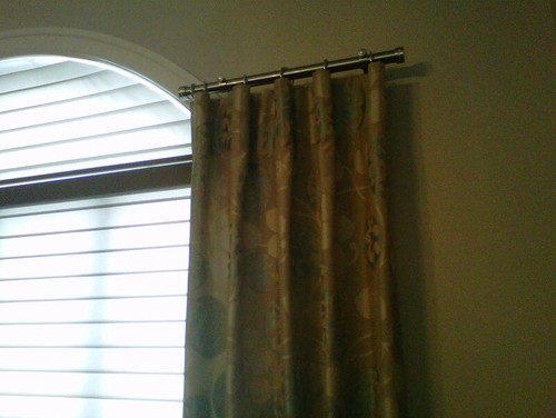 Outdoor Curtain Track System Blue Window Curtain Rods