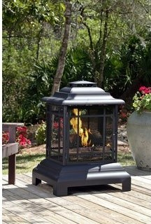 Rectangle Pagoda Patio Fireplace traditional firepits