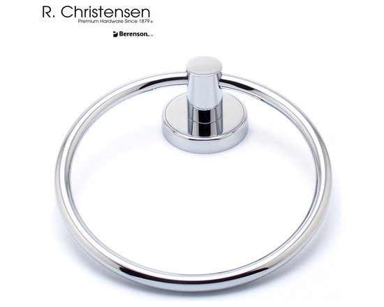 2211US26 Polished Chrome Towel Ring by R. Christensen - 6-9/16 inch long contemporary style towel ring by R. Christensen in Polished Chrome.