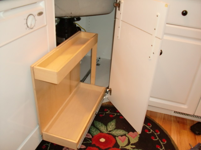 Under Sink Risers and Pull Out Shelves - Cabinet And Drawer Organizers - boston - by ShelfGenie ...