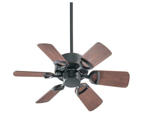 Quorum International - Estate Old World 30-Inch Patio Fan - -Amps: .29/.21/.09  -Fan Watts: 50/27/9  -RPM: 245/185/103  -Motor Size: 153x12  -Motor Poles: 14  -Motor Warranty: Limited Lifetime  -Motor Lead Wire: 80  -Motor Switch Type: Hi/Med/Lo/Off  -Motor Reverse Type: Slide  -Six Walnut Blades  -Blade Sweep: 30  -Arm Pitch: 25  -Down Rods Included: 3.5 and 6  -Ceiling to Lower Edge of Blade: 10.75  -Fan Housing Width: 9.06  -Optional remote control available.  See companioned items to order. Quorum International - 143306-95