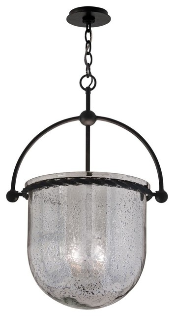Mercury Glass Bell Lantern Outdoor Hanging Lights By