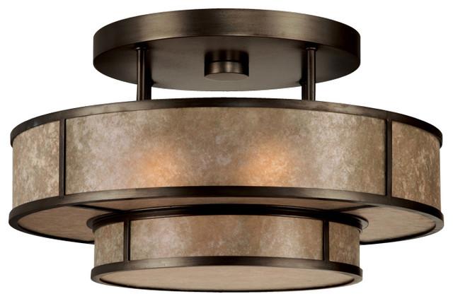 singapore moderne bronze semi flush mount 600940st