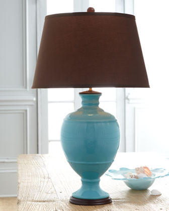 Turquoise Table Lamp traditional-table-lamps