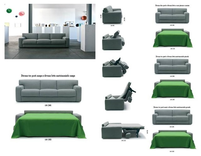 Modern sofa beds - SB 21 - Made in Italy modern-futons