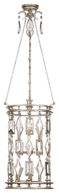 Encased Clear Crystal Gems Lantern, 711640-3ST traditional-pendant-lighting