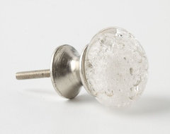 Bubbled Glass Knob, Clear contemporary-cabinet-and-drawer-knobs