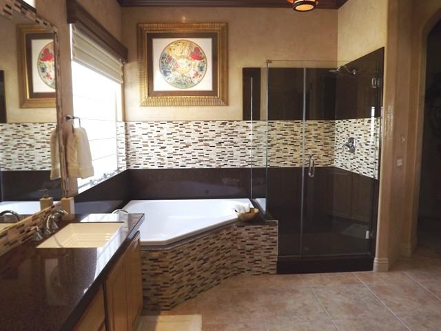 Vetro moretti bathroom remodel granite transformations for Bath remodel las vegas