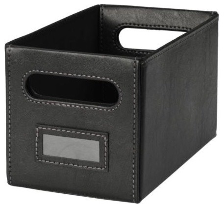 kn s cd storage box contemporary storage bins and. Black Bedroom Furniture Sets. Home Design Ideas