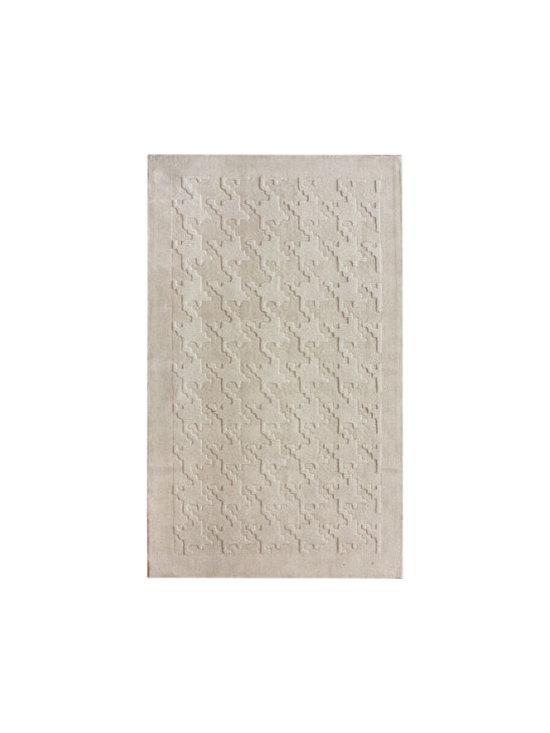 Spectrum Houndstooth Texture Ivory Rug -