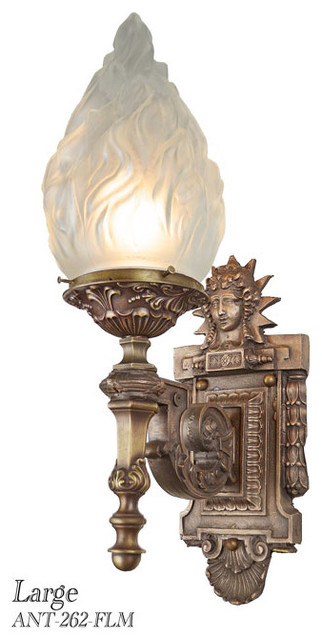 Antique Outdoor Wall Sconces : Large Outdoor Antique Figural Sconces - Traditional - Wall Sconces - seattle - by Vintage ...