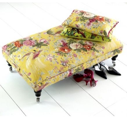 Custom Fabric Coffee Table Stool eclectic-footstools-and-ottomans