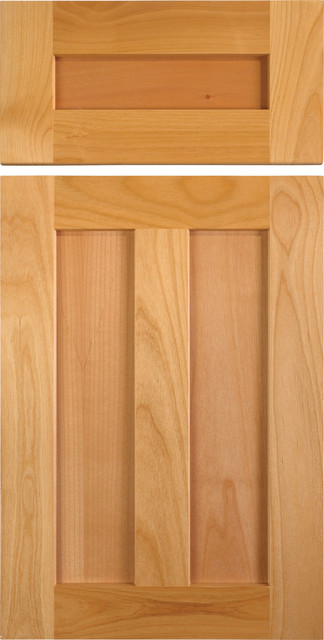 Shaker Style Cabinet Door with Center Stile in Alder - Traditional ...