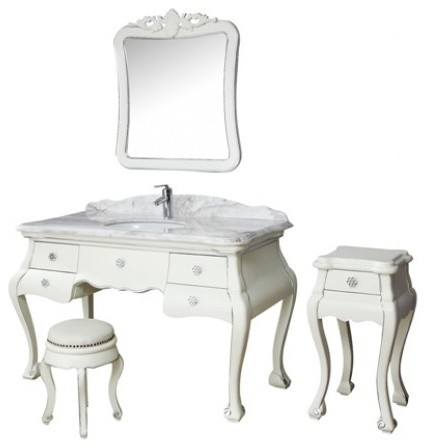 Angel  Solid Timber White Bathroom Vanity  Traditional